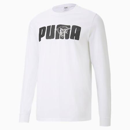 バスケットボール フランチャイズ ストリート 長袖 Tシャツ, Puma White, small-JPN