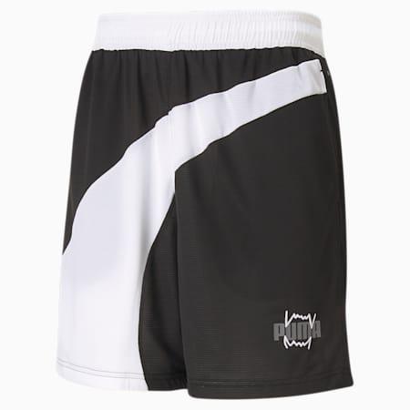 Flare Men's Basketball Shorts, Puma Black, small-SEA