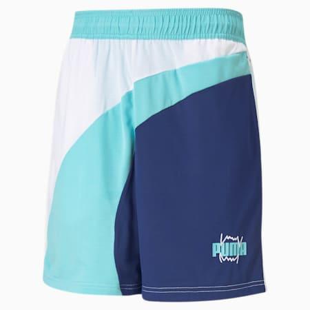 Flare Men's Basketball Shorts, Elektro Blue, small