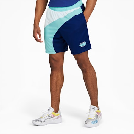 Short de basketball évasé, homme, Bleu Elektro, petit