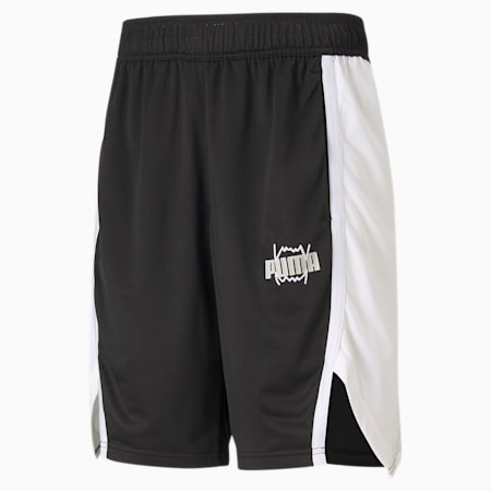 Curl Men's Basketball Shorts, Puma Black, small-GBR