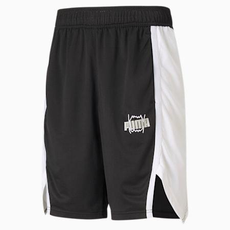 Curl Men's Basketball Shorts, Puma Black, small-SEA