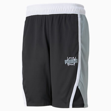 Shorts de básquetbol Curl para hombre, Puma Black, pequeño