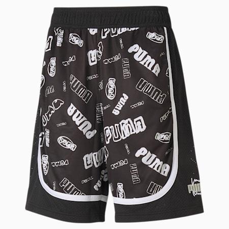Fade basketbalshort heren, Puma Black, small