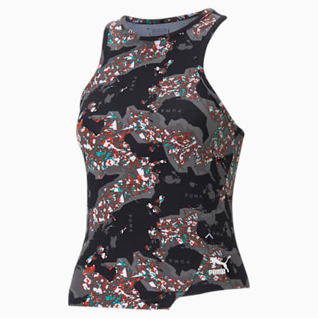 RE.GEN Printed Women's Tank Top, Anthracite, small-GBR
