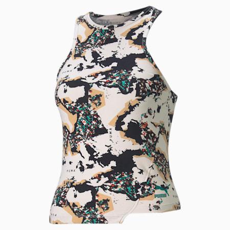 RE.GEN Printed Women's Tank Top, no color-bye dye, small-IND