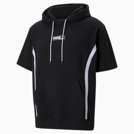 Franchise basketbalhoodie met korte mouwen heren, Puma Black, small