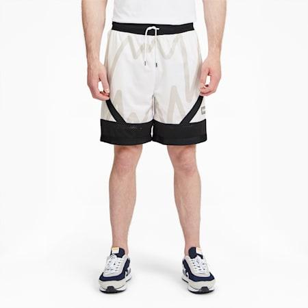 Shortsde malla para básquetbol Jawspara hombre, Puma White, pequeño