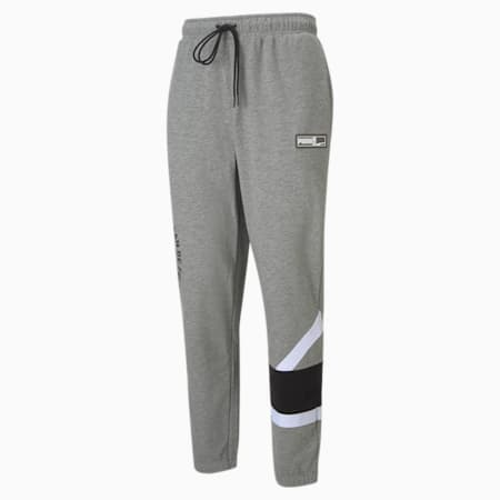 Franchise Knitted Men's Basketball Pants, Medium Gray Heather, small