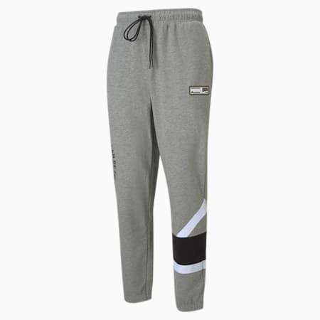 Pantalones de baloncesto de punto Franchise para hombre, Medium Gray Heather, small