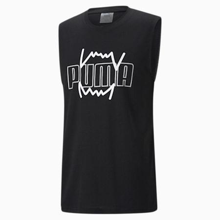 Męska koszykarska koszulka bez rękawów Triple Double, Puma Black, small