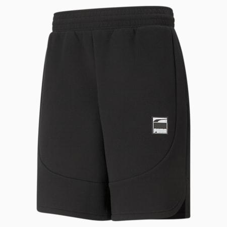 Dime Men's Basketball Shorts, Puma Black-Puma Black, small