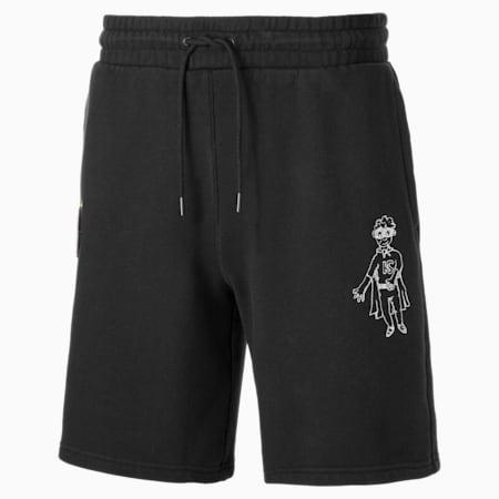 Shorts PUMA x KidSuper para hombre, Puma Black, small