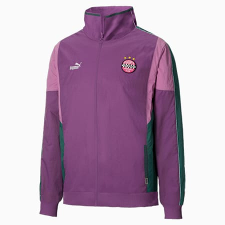 PUMA x KidSuper Woven Men's Track Jacket, Chinese Violet, small