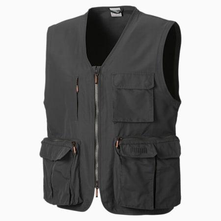 MMQ EARTHBREAK Utility Men's Vest, CASTLEROCK, small