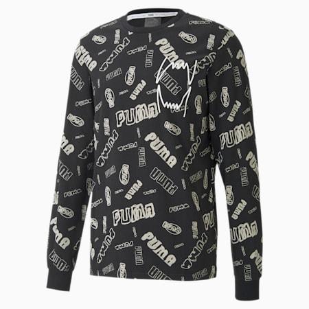 バスケットボール HOOPS AOP 長袖 Tシャツ, Puma Black, small-JPN
