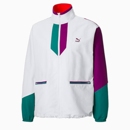 PUMA x PUMA Men's Track Jacket, Puma White, small