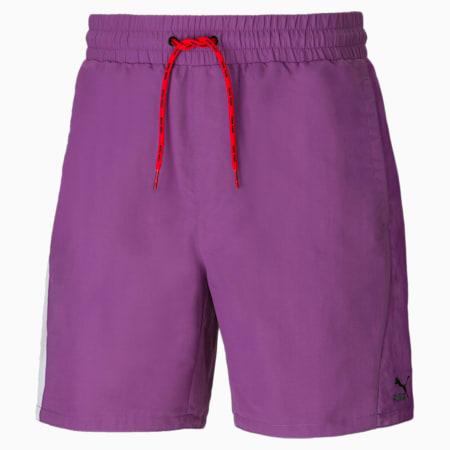 Shorts de tejido plano PUMA x PUMA para hombre, Chinese Violet, small