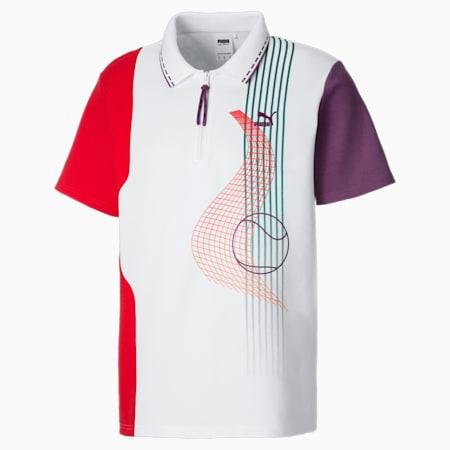 PUMA x PUMA Men's Polo Shirt, Puma White, small