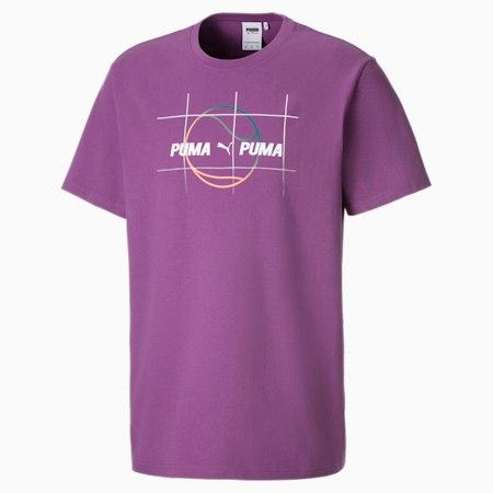 Camiseta gráfica PUMA x PUMA para hombre, Chinese Violet, small