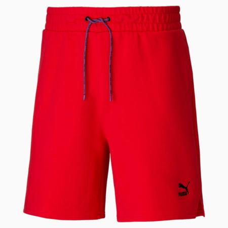 Shorts de felpa PUMA x PUMA para hombre, Poppy Red, small