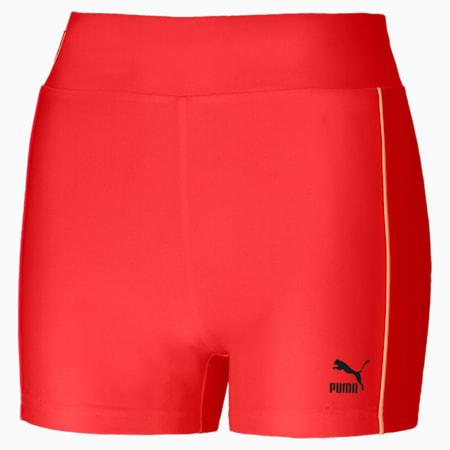 Shorts de ciclismo PUMA x PUMA para mujer, Poppy Red, small