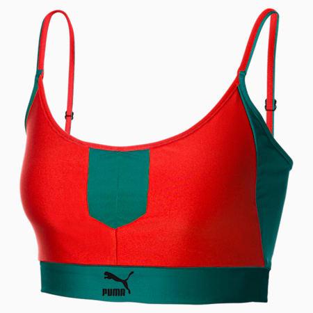 Sujetador deportivo PUMA x PUMA para mujer, Poppy Red, small