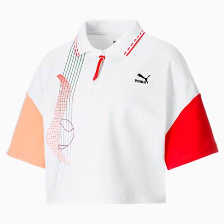 PUMA x PUMA Damen Poloshirt, Puma White, small