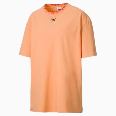 Camiseta de corte rectangular PUMA x PUMA para mujer, Peach Cobbler, small