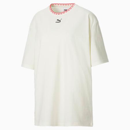 T-shirt coupe boxy PUMA x PUMA femme, Marshmallow, small