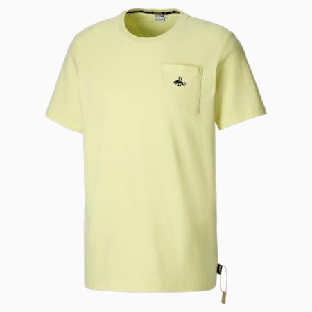 Męski T-shirt z nadrukiem Rudolf Dassler Legacy, Yellow Pear, small