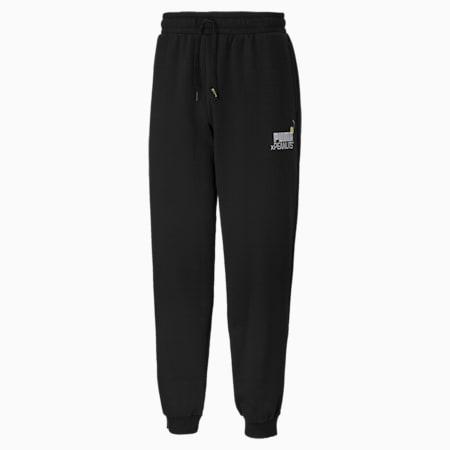 PUMA x PEANUTS Men's Sweatpants, Puma Black, small-SEA