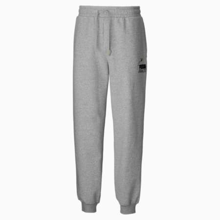 PUMA x PEANUTS Men's Sweatpants, Light Gray Heather, small