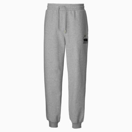 PUMA x PEANUTS Men's Sweatpants, Light Gray Heather, small-GBR