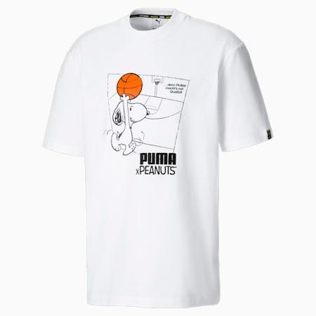 PUMA x PEANUTS Men's Tee, Puma White, small