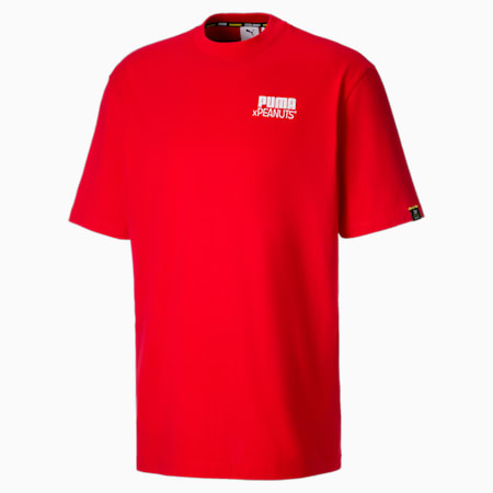 PUMA x PEANUTS Herren T-Shirt, High Risk Red, small