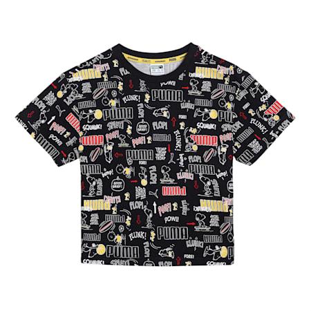 PUMA X PEANUTS Printed Kid's  T-shirt, Puma Black, small-IND