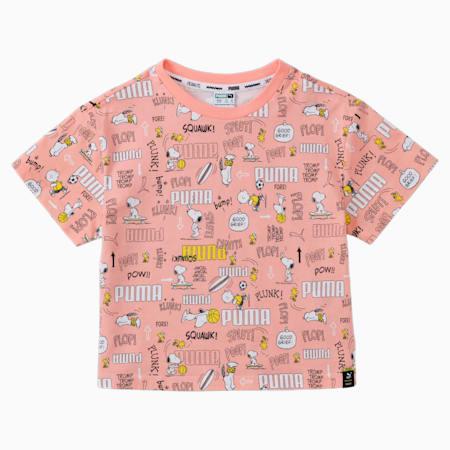 PUMA X PEANUTS Printed Kid's  T-shirt, Apricot Blush, small-IND