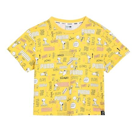 PUMA X PEANUTS Printed Kid's  T-shirt, Maize, small-IND