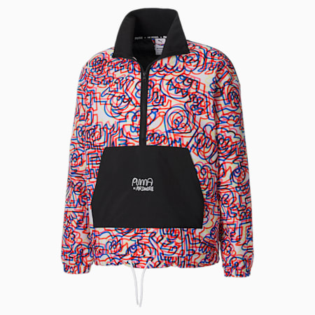 PUMA x MR DOODLE Men's Relaxed Anorak, Puma White-AOP, small-IND