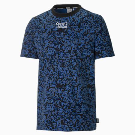 PUMA x MR DOODLE Printed Men's  T-shirt, Puma Black-AOP, small-IND