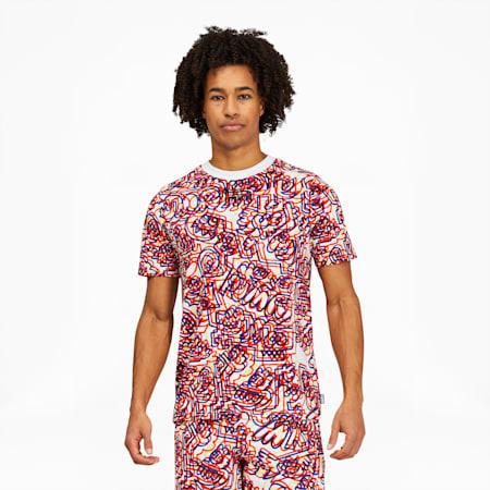Camiseta PUMA x MR. DOODLEAOP para hombre, Puma White-AOP, pequeño