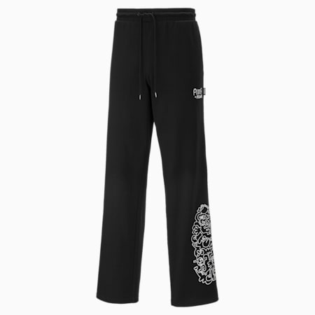 PUMA x MR DOODLE Men's Sweatpants, Puma Black, small-SEA