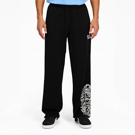 Pantalones deportivos PUMA x MR. DOODLEpara hombre, Puma Black, pequeño