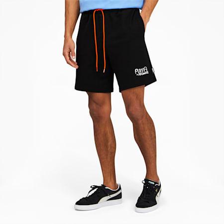 Shorts PUMA x MR DOODLEpara hombre, Puma Black, pequeño
