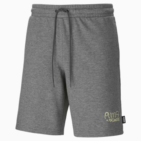 PUMA x MR DOODLE Men's Shorts, Medium Gray Heather, small