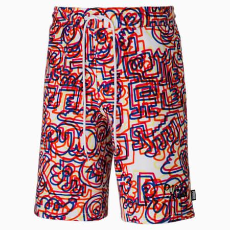 PUMA x MR DOODLE Printed Men's Shorts, Puma White-AOP, small-GBR