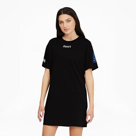 Vestido estilo camiseta PUMA x MR. DOODLEpara mujer, Puma Black, pequeño