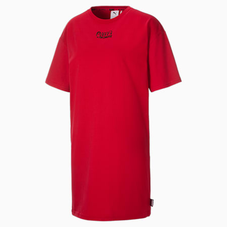 PUMA x MR DOODLE Damen T-Shirt-Kleid, American Beauty, small
