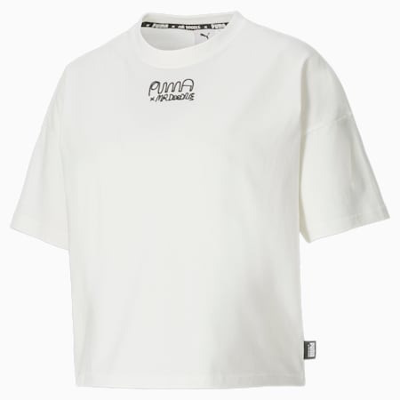 T-shirt ample PUMA x MR DOODLE femme, Puma White, small